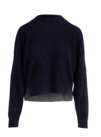 Cropped Crew Pullover 100% Cashmere