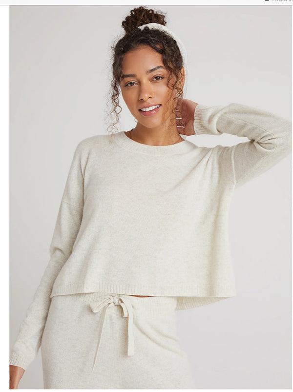 Crew Neck Sweater Soft Nude