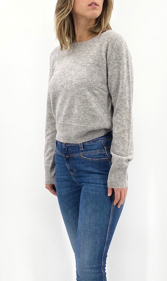 Cropped Crew Pullover