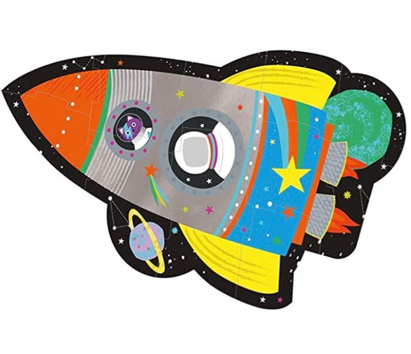 Rocket 12 Piece Shaped Jigsaw Puzzle