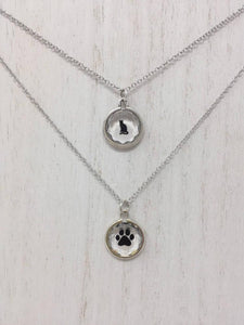 Black Sitting Cat Necklace