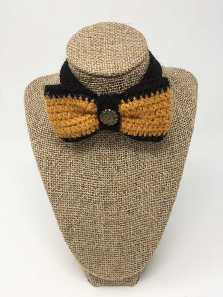 Ginger and Black Bow Tie