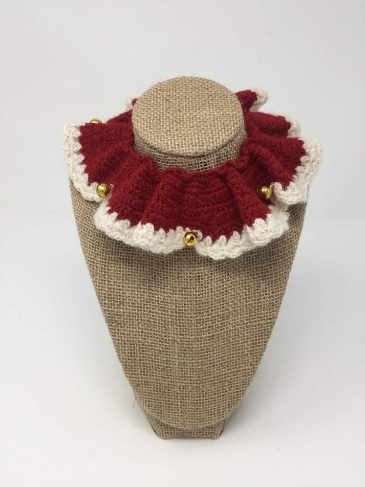 Red and Ivory with Gold Bells Royal Ruff Collar