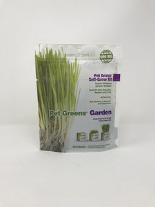 Picture of a pet grass self-grow kit standing on an all white surface
