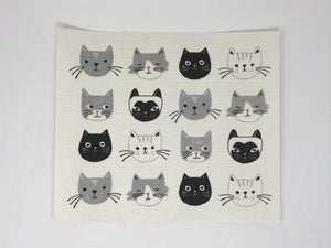 Swedish Sponge Dry Mat - Chic Kitty Faces