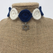 Blue/Ivory Love Collar - Star of David charm