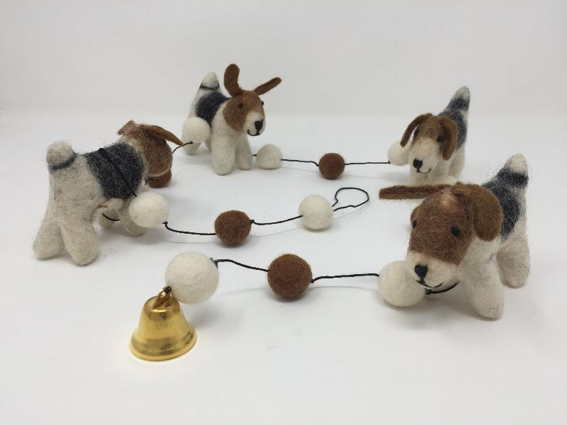 Felt Wool Dog Garland