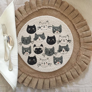 Chic Kitty Trivet/Mini Placemat