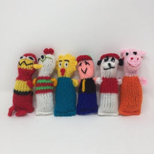 Picture of a collection of colorful hand-knitted catnip toys