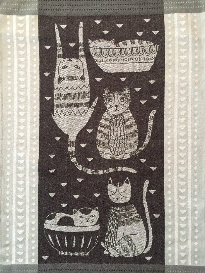 Dish Towel - Downtown Cool Cats