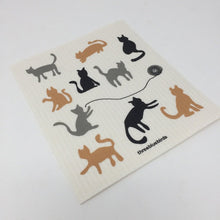 Swedish Dishcloth - Cats Hanging Out