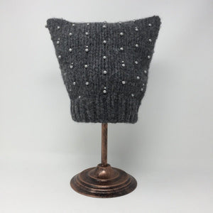 Beaded Graphite Cat Hat