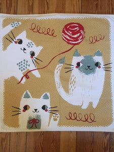 Dish Towel - Cats Having Fun - Gift-Box