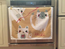 Mixed Cats Square Dish Towel