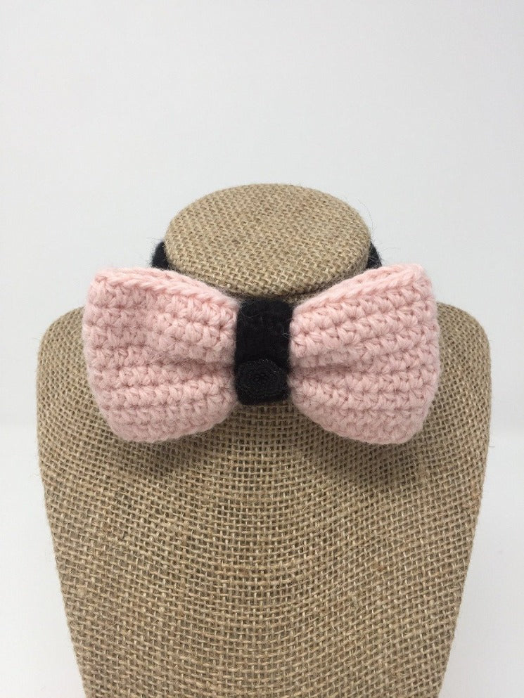 Hand Crochet Alpaca Wool Pet Bow Tie