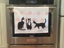 Dish Towel - Tuxedo Cats With Balls of Yarn