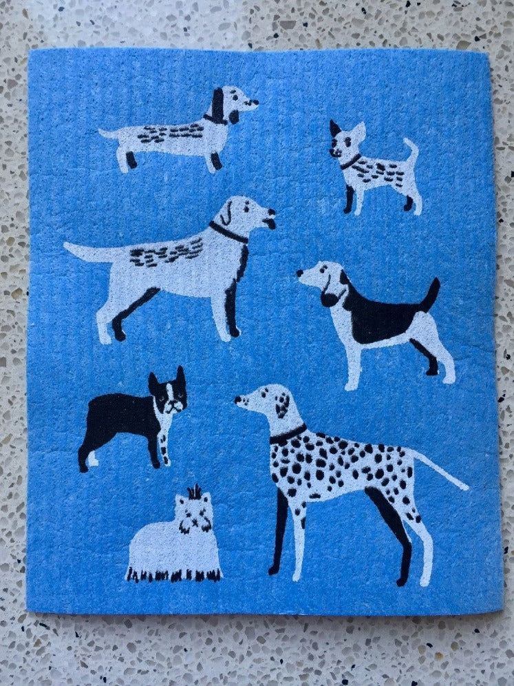 Dogs Galore Swedish Dishcloth