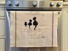 Dish Towel - Black Cats in Paris