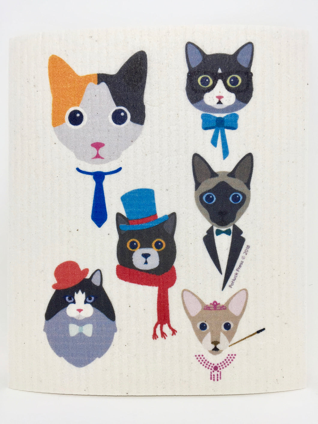 Recycle Sponge Cloth - Couture Cats