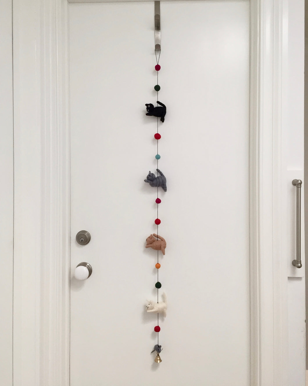 Felted Garland of Cats
