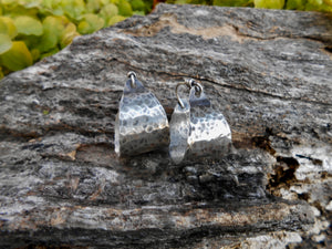 Sterling Silver Basket Hoop Earrings