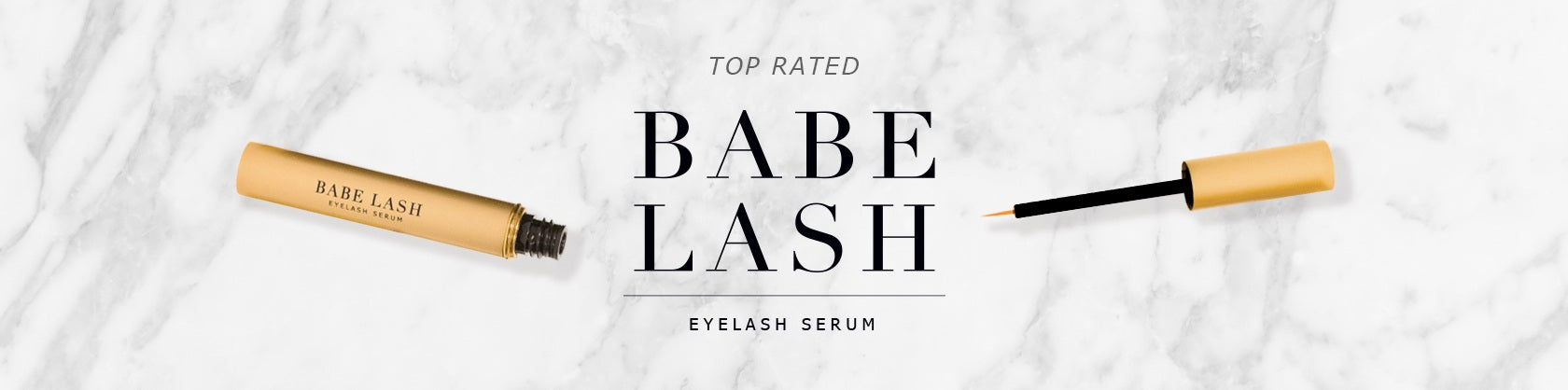 top rated babe lash serum with opened serum product