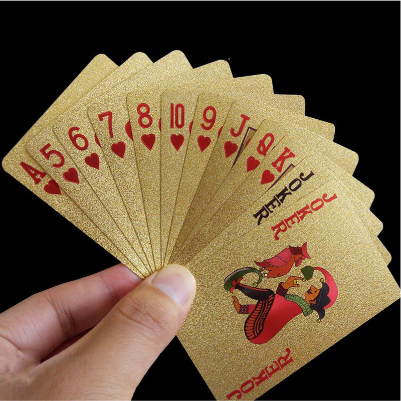 24K Gold-Plated Playing Cards - With Certificate - Sick Stuff