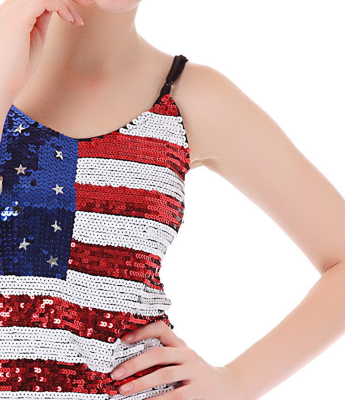 American Flag Bling Camisole - Sick Stuff