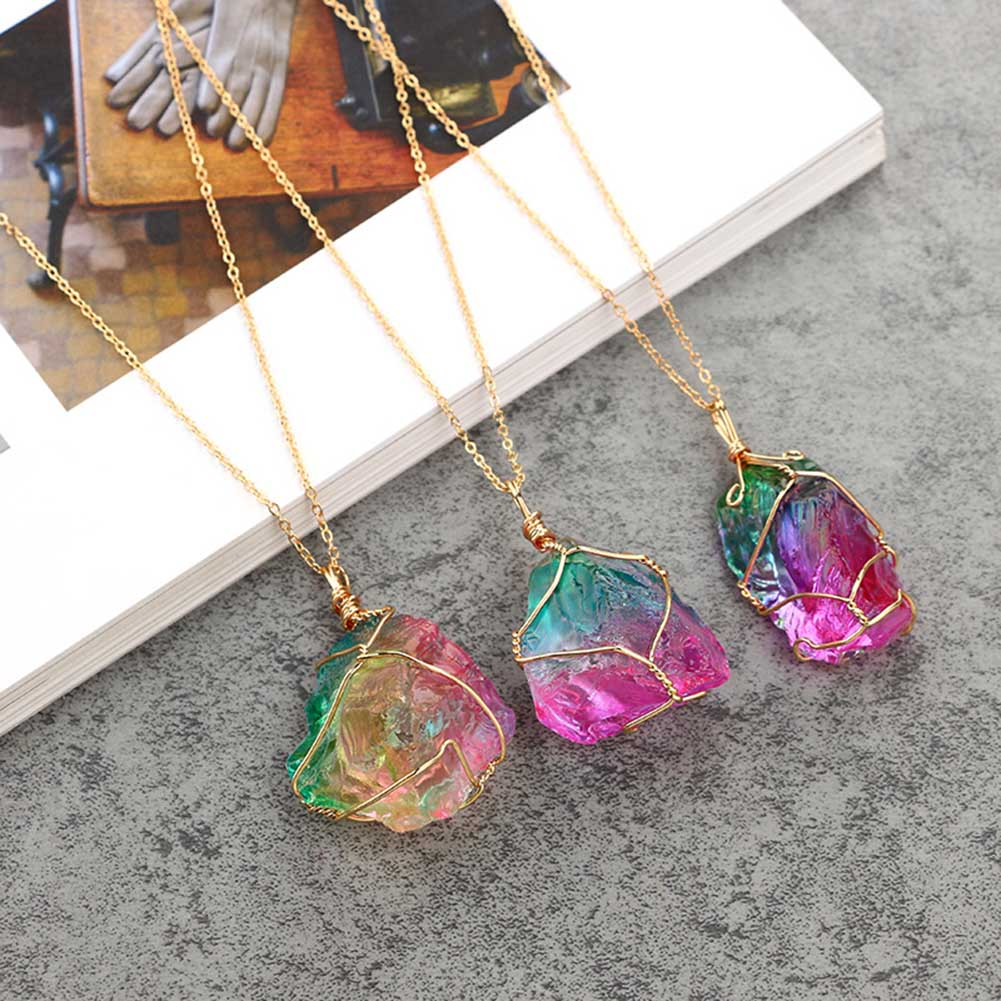 Rainbow Crystal Necklace - Sick Stuff