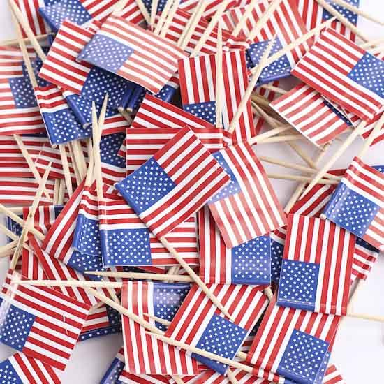 50pcs Mini American Flag Picks - Sick Stuff
