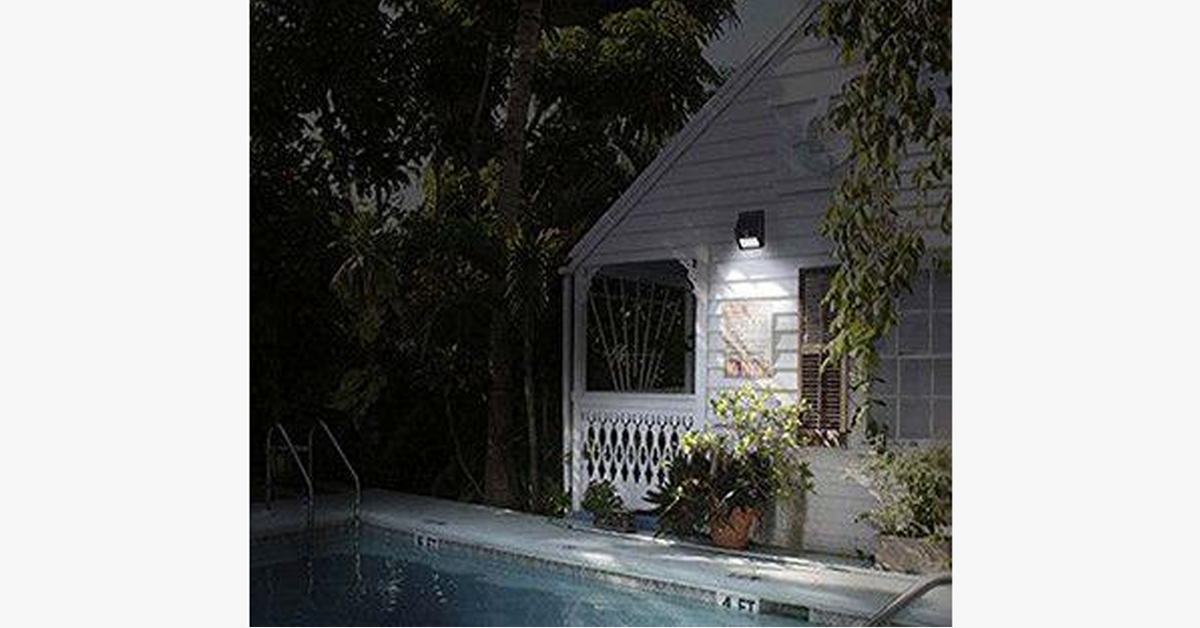 LED Solar-Powered Motion Sensor Security Light - Sick Stuff