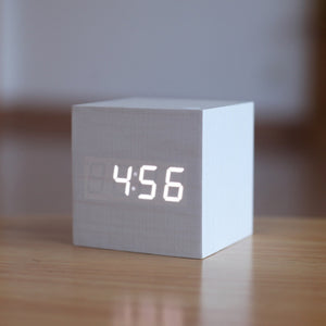 The Cubic™ - Sound Controlled Clock & Thermometer - Sick Stuff