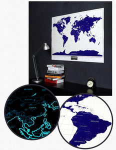 Glow in the dark scratch off world map poster sick stuff glow in the dark scratch off world map poster gumiabroncs Gallery