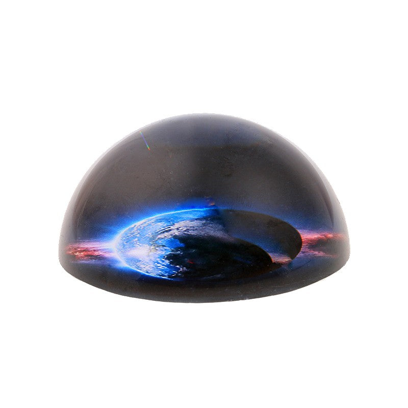3D Planet Crystal Half Ball Paperweight