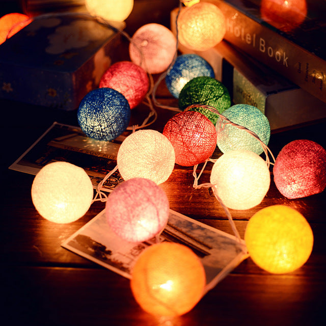 Cotton Ball LED String Lights - Sick Stuff