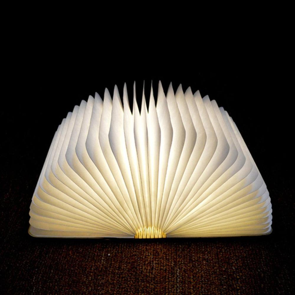 The Book Lamp - Foldable Wooden Book Shape Night Light - Sick Stuff