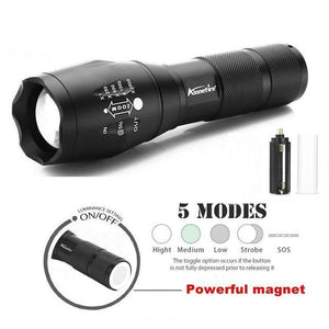 Waterproof Zoomable Led Flashlight