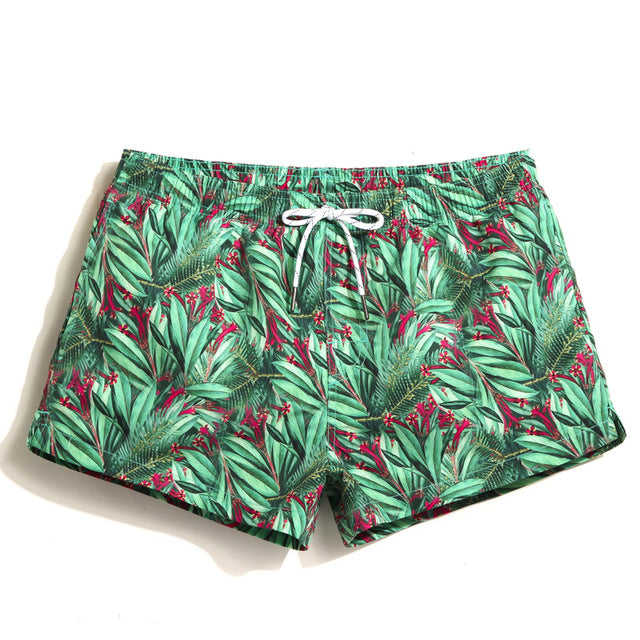 Tropical Greens Beach Shorts
