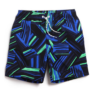 Stripe Abstract Beach Shorts
