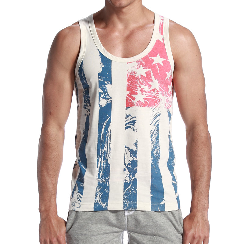 American Flag Slim Tank Top - Sick Stuff