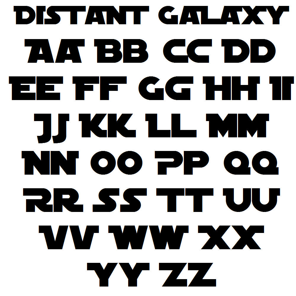 distant galaxy font mdf letters amusable
