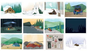 Calendrier avec illustrations de plein air