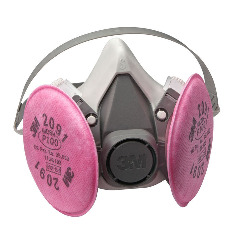 Dual Cartridge Dust Respirator with 2 Filters