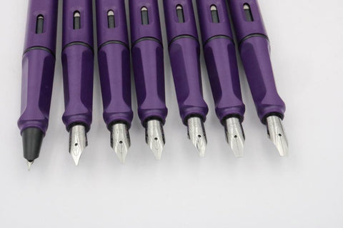 Gothic Parallel Fountain Pen ( Purple )