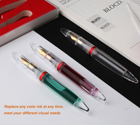 High Quality Transparent Dropper Fountain Pen