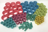 Hair roller 8 sizes, 96 pcs