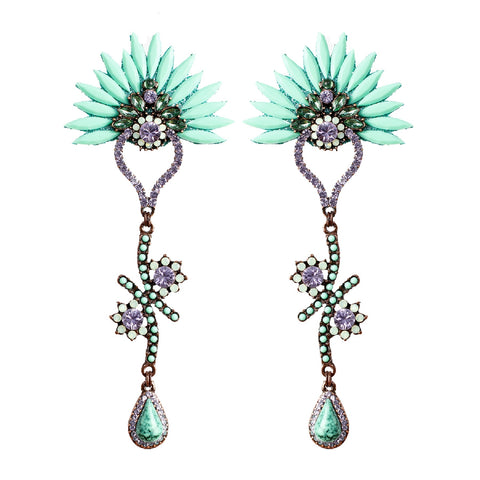 Acqua & Lavender Dropping Earring