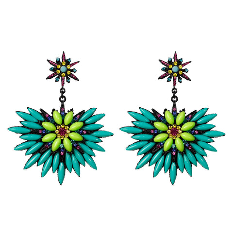 Acqua & Green Chandelier Earring