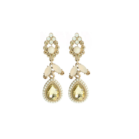 Beige Tear Drop Earring
