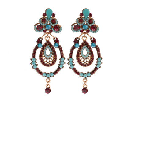Red & Blue Chandelier Earring